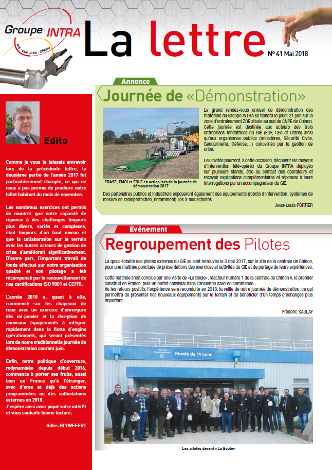 Lettre INTRA n°41